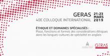 Visuel du 40e colloque international du GERAS 2019
