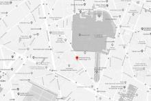 Plan de situation du centre Assas en noir et blanc